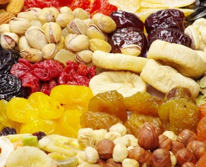 Nuts and candied fruits