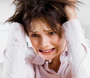 Woman has stress