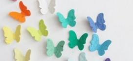 Делаем красивых бабочек для украшения дома