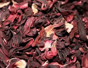 Dried petals of Sudanese rose
