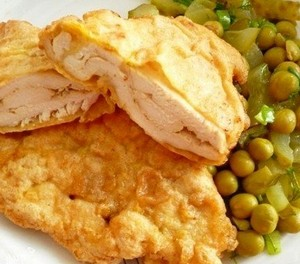 Chopped Pork Chops with Green Peas