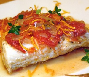 Baked Cod with Tomatoes and Carrots