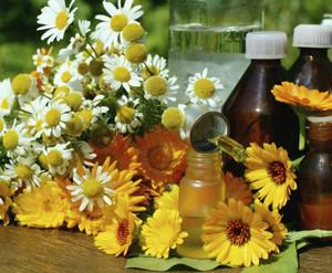Herbs and bath oils