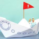 2 способа сложить бумажный кораблик