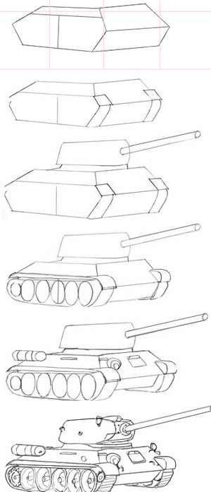 Stages drawing tank