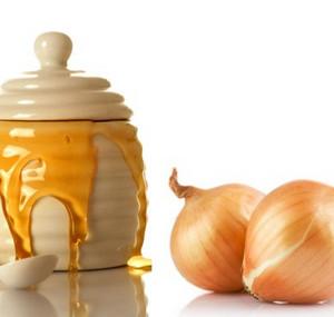Jar of honey and bulbs