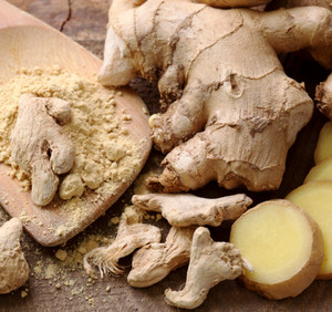 Ginger root in different types