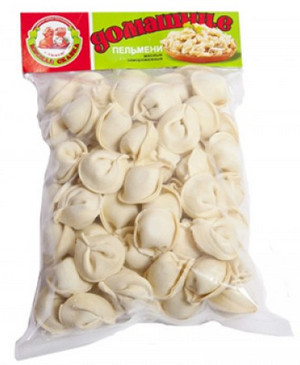 A pack of dumplings from the store