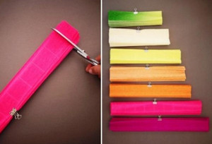 Rolled Colored Paper Pieces