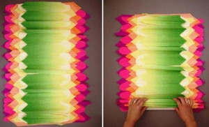 Folding colored paper