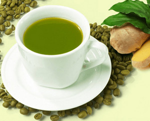 Green coffee and ginger
