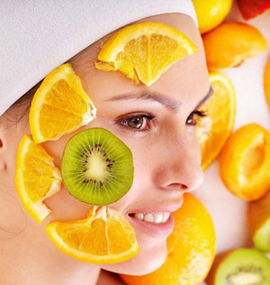 Fruits on the face