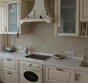 Kitchen in beige tones