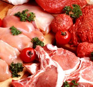 Куриное филе и мясо говядины