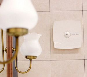 The device for ventilation in the bathroom