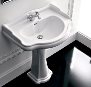 Washbasin tulip white