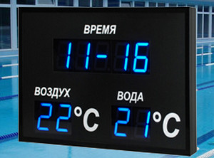 Electronic clock with TFT display