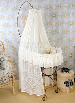 White canopy over the cradle
