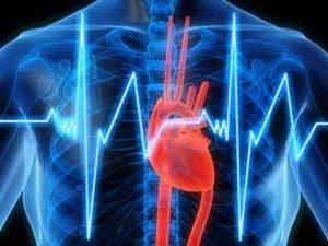 A man under an x-ray shine heart