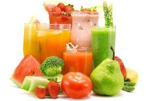 Juices, vegetables and fruits