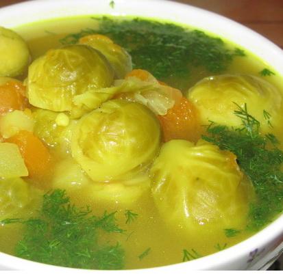 брюссельская капуста суп