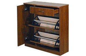 Cabinet with internal compartments and shelf