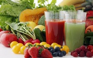 Vegetables, fruits and juices
