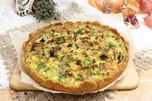 Quiche with mushrooms