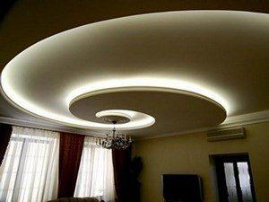 Подвесной потолок в форме спирали