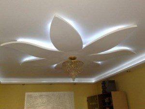 Подвесной потолок в виде цветка