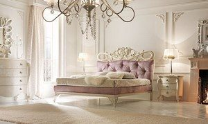 White bedroom with empire furniture