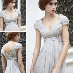 Girl in Empire style dress