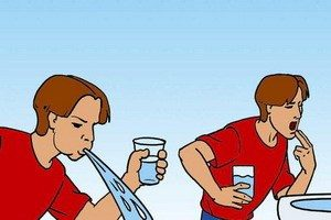 Man causes vomiting