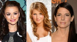 Celebrities with long hair