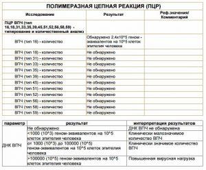 PCR analysis result