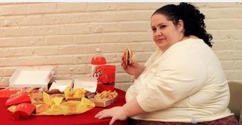 fat lady in mcdonalds