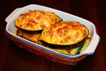 stuffed eggplant recipe with cheese