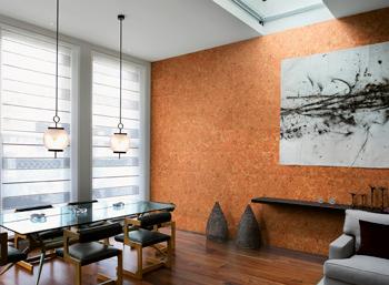 cork walling, installation rules