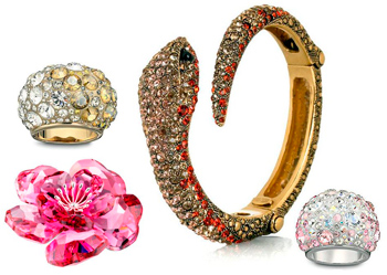 Jewelery with Swarovski stones as a sample of quality