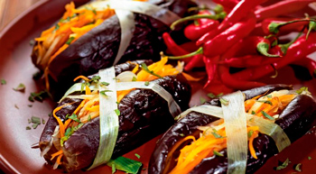 stuffed eggplants in the oven with rice and mushrooms