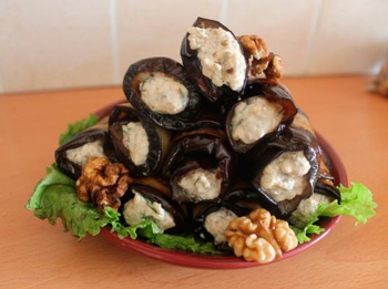 stuffed eggplant with nuts