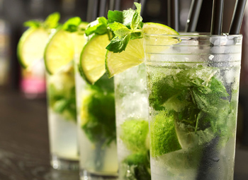 cocktails with rum, mojito