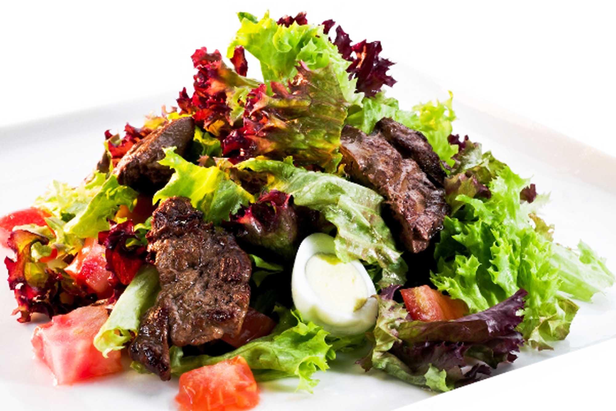 теплый салат рецепт с фото рассчитать