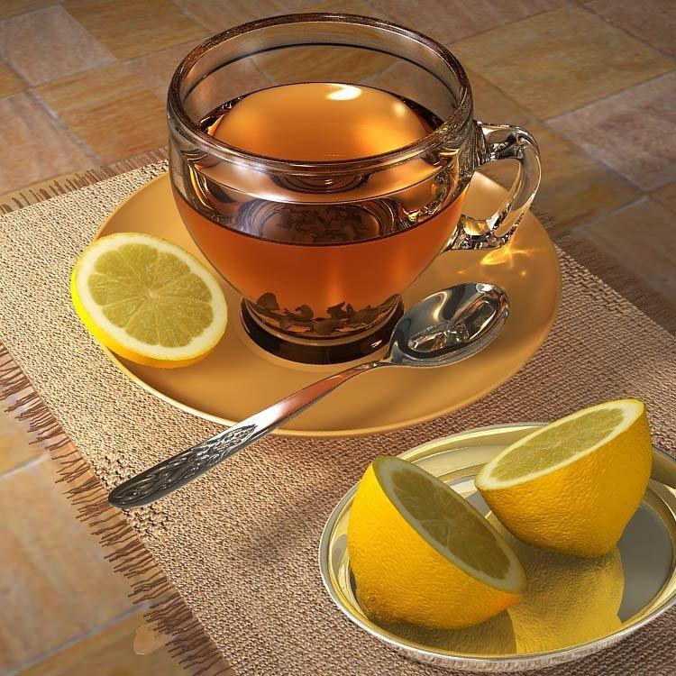 чай с лимоном очень красивые фото представляет фото