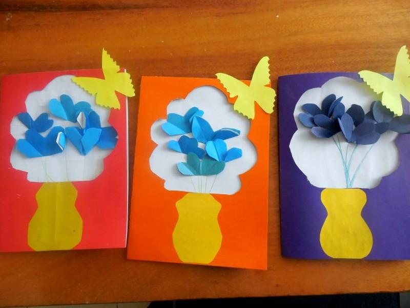 Открытки с 8 марта в детском саду аппликация, картинки прикольные смешные