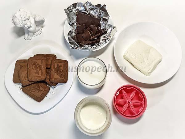 ингредиенты для торта из печенья