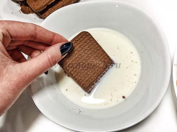 печенье с молоком